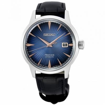 SEIKO 精工 Presage動力儲存顯示機械手錶SRPE13J1-藍X黑/40.5mm