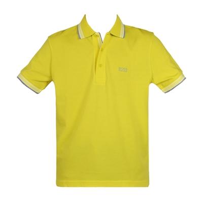 HUGO BOSS 經典標誌配色男款POLO衫-黃