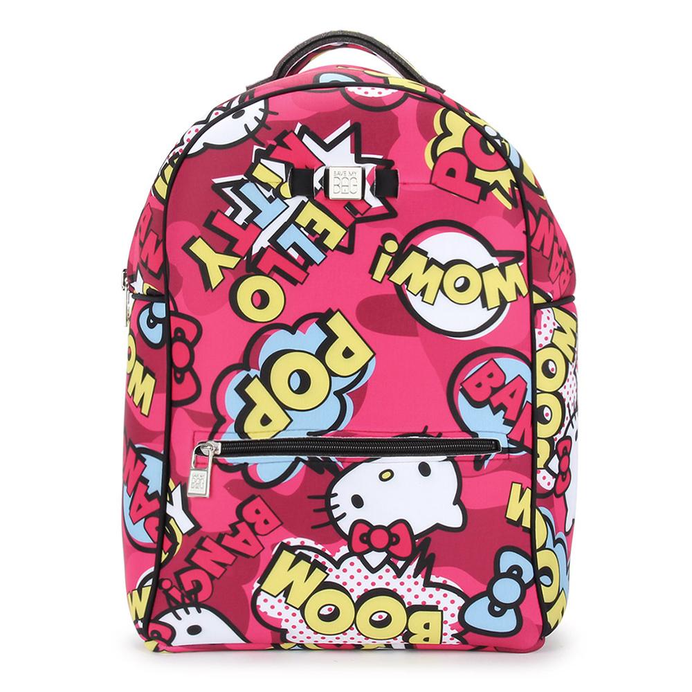 SAVE MY BAG Zaino系列限量Hello Kitty輕量防水後背包-桃紅色