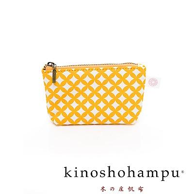 kinoshohampu 貴族和柄帆布零錢包 七寶黃
