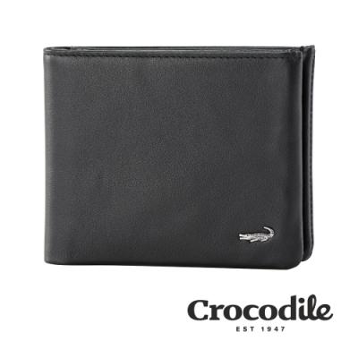 Crocodile 鱷魚皮件 真皮短夾 Lamy系列 14卡 中翻2窗格 男夾 0103-09702-01