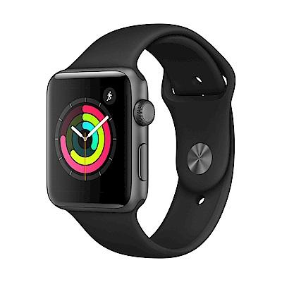 Apple Watch Series  3  (GPS)  42 mm 太空色鋁金屬錶殼+黑色運動錶帶