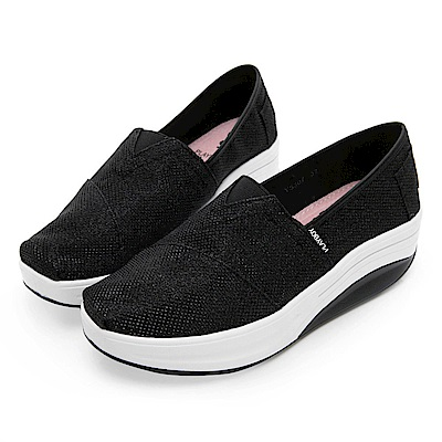 PLAYBOY 閃耀迷人亮蔥輕量休閒鞋-黑