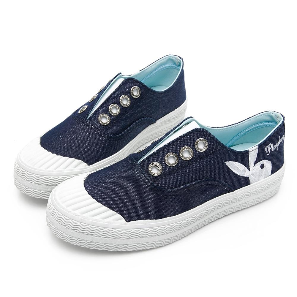 PLAYBOY活力靈感簡約餅乾鞋-藍-Y6216FF