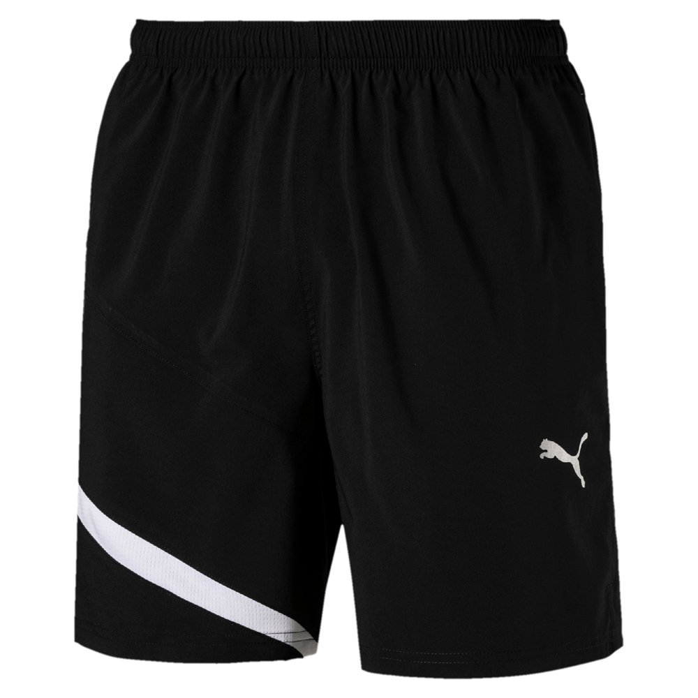 PUMA-男性慢跑系列撞色7吋短褲-黑色-歐規