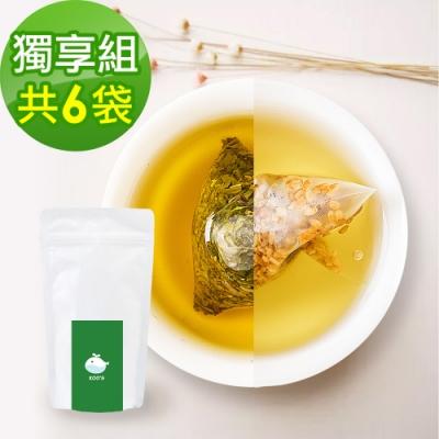 KOOS-韃靼黃金蕎麥茶+香韻桂花烏龍茶-獨享組各3袋(10包入)