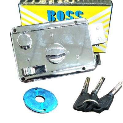 LI015 BOOS三段鎖 連體式三段鎖 火箭式鎖匙 3段鎖 單開電白 隱藏式門鎖 大門鎖