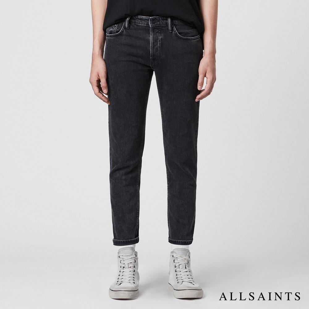 ALLSAINTS DEAN 彈力錐型修身純棉牛仔褲-黑