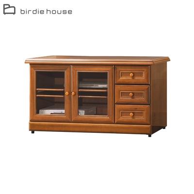 柏蒂家居-歐普拉4尺二門三抽電視櫃/收納置物櫃-120x54x63cm