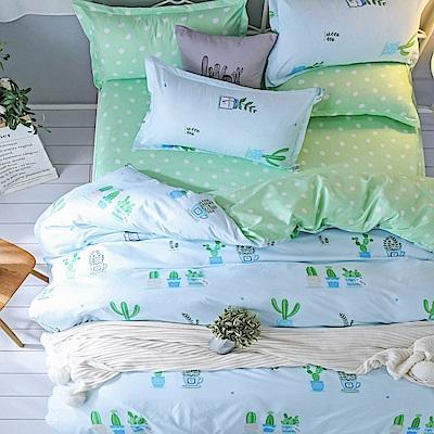 La Lune 台灣製經典超細雲絲絨雙人加大床包被套四件組 綠悠生活
