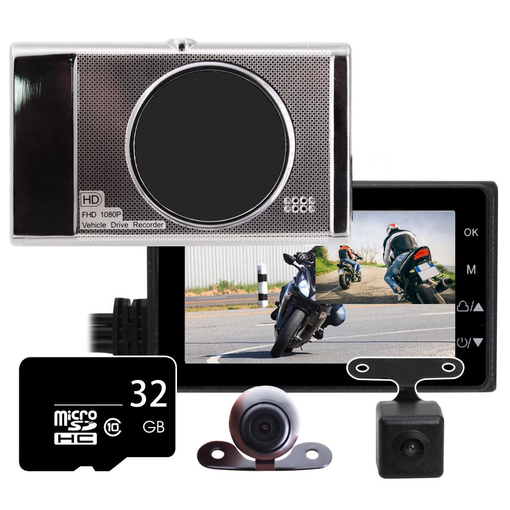 IS愛思 MR-18 LITE 前後雙鏡雙錄HD機車行車紀錄器(贈32GB記憶卡) @ Y!購物