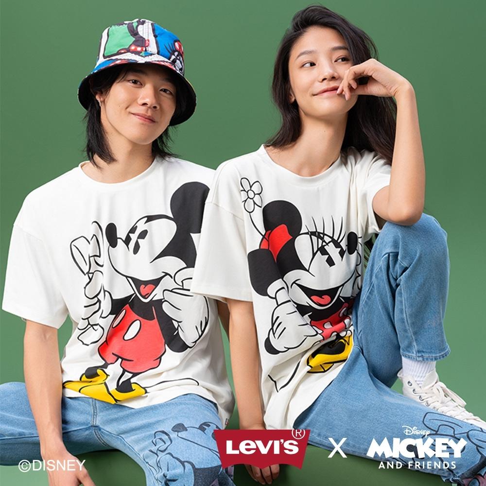 Levis X Disney 合作系列 男款 短袖情侶T恤 / 寬鬆休閒版型 / 米奇印花