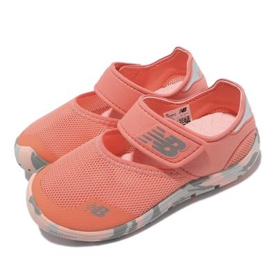 New Balance 休閒鞋 208 包頭涼鞋 寬楦 童鞋 紐巴倫 防水透氣 魔鬼氈 保護腳趾 中童 橘 灰 YO208PK2W