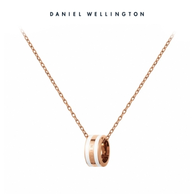 【Daniel Wellington】官方直營 Emalie Necklace 時尚奢華項鍊-玫瑰金x白 DW項鍊