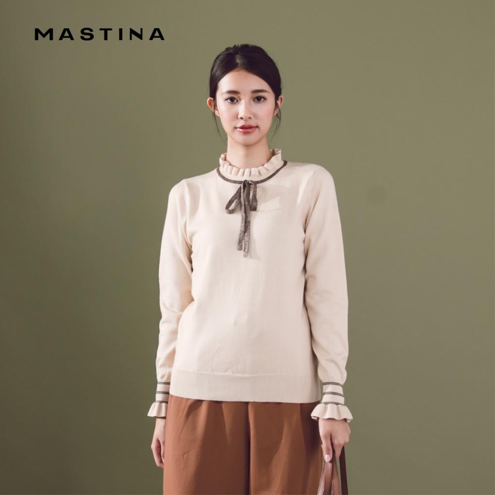【MASTINA】學院風波浪造型-針織衫(三色)