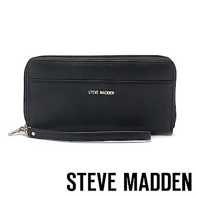 STEVE MADDEN-BDELIA-W-優雅素面壓紋百搭長夾-黑色