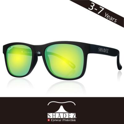 瑞士SHADEZ兒童頂級偏光太陽眼鏡SHZ-406(年齡3-7)-黑框湖水綠