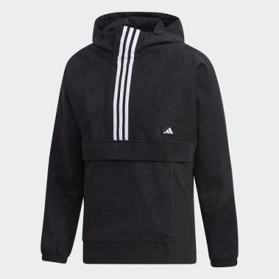 adidas 上衣 連帽上衣 運動 慢跑 健身 男款 黑 GM4443