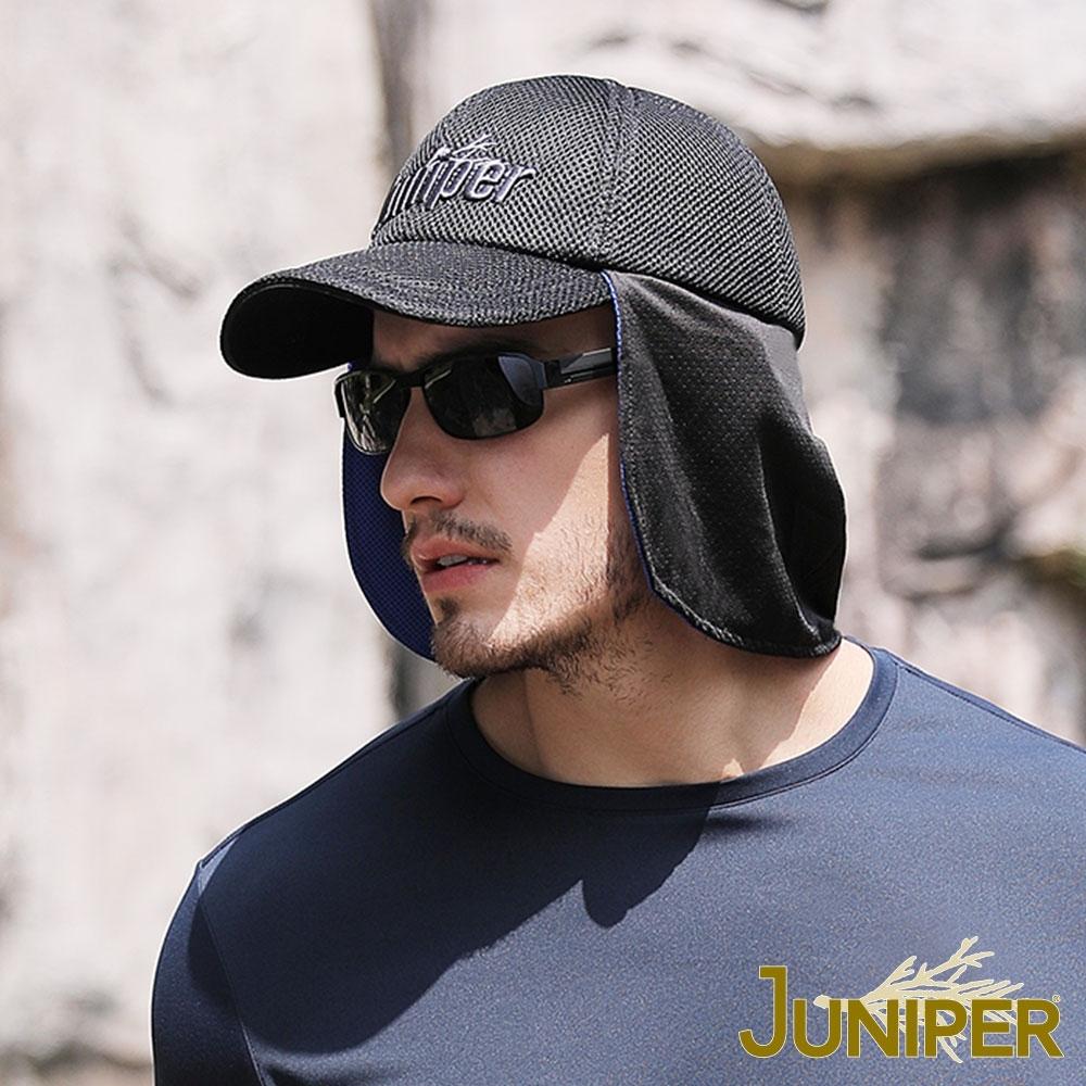 JUNIPER 透氣網眼遮陽遇水超涼感披風運動帽
