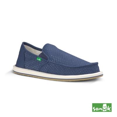 SANUK 帆布透氣懶人鞋-男款(藍色)
