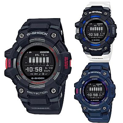 G-SHOCK 強悍智能訓練卡路里/計步MIP液晶顯示藍牙休閒錶(GBD-100系列)49.3mm