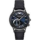Emporio Armani Connected Hybrid 智慧型腕錶-藍x黑