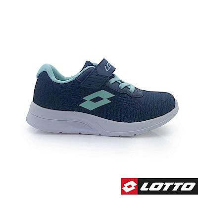 LOTTO 義大利 童 MEGALIGHT 輕量跑鞋 (藍/湖水綠)