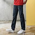 GIORDANO 男裝水洗基本款中腰錐形牛仔褲-93 中藍
