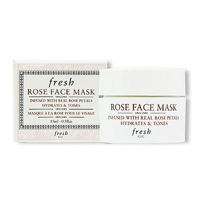 fresh 玫瑰潤澤保濕面膜15ml 國際限定版