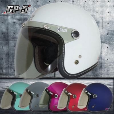 【GP-5】圓弧盾牌鏡 復古帽安全帽│車縫束圈│機車│內襯│鏡片│全可拆│開放式