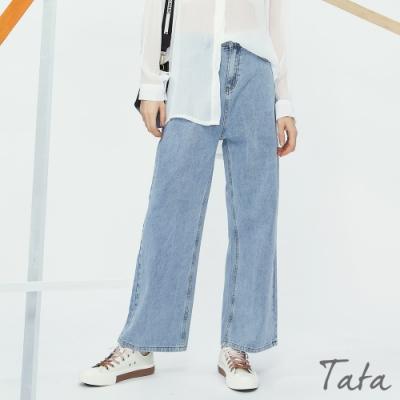 直筒寬褲牛仔褲 TATA-(S~L)