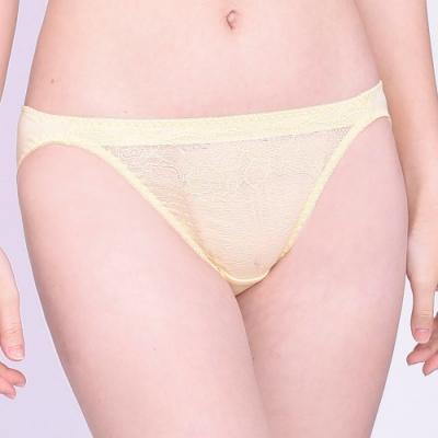 思薇爾 沁甜花漾系列M-XL蕾絲低腰三角內褲(蛋蜜色)