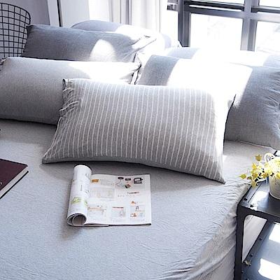 OLIVIA 天竺棉  仲夏  雙人床包美式枕套兩件組  100%新疆純棉