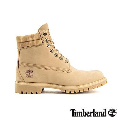 Timberland 男款淺米色正絨面皮革高筒靴|A1B9Y