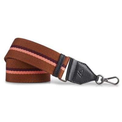 MARKBERG Finley 丹麥手工時尚編織寬版肩揹帶 (珊紅棕)