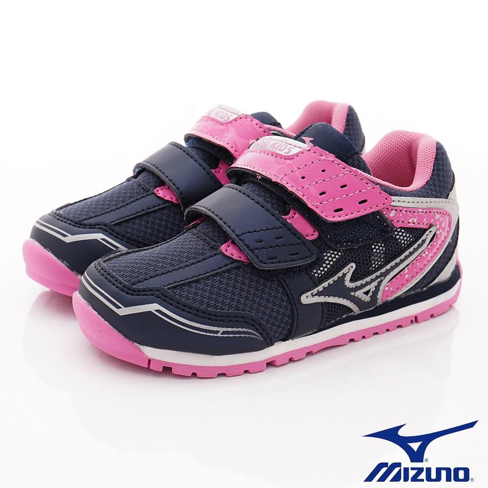 MIZUNO童鞋 避震耐磨鞋款 ON93760深藍桃(中小童段)