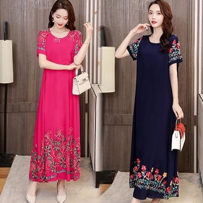 [韓國K.W.]-(預購)國色天資花卉連身洋裝