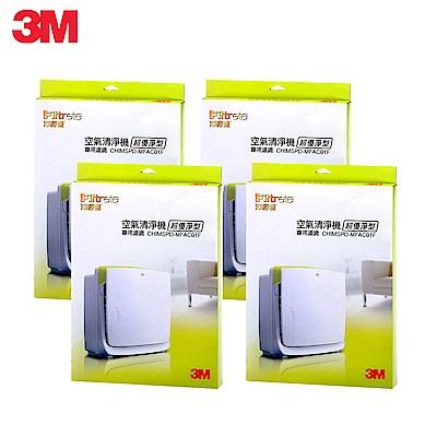 3M 淨呼吸空氣清淨機-超優淨型機替換濾網(MFAC-01F)(買三送一超值組) N95口罩濾淨原理