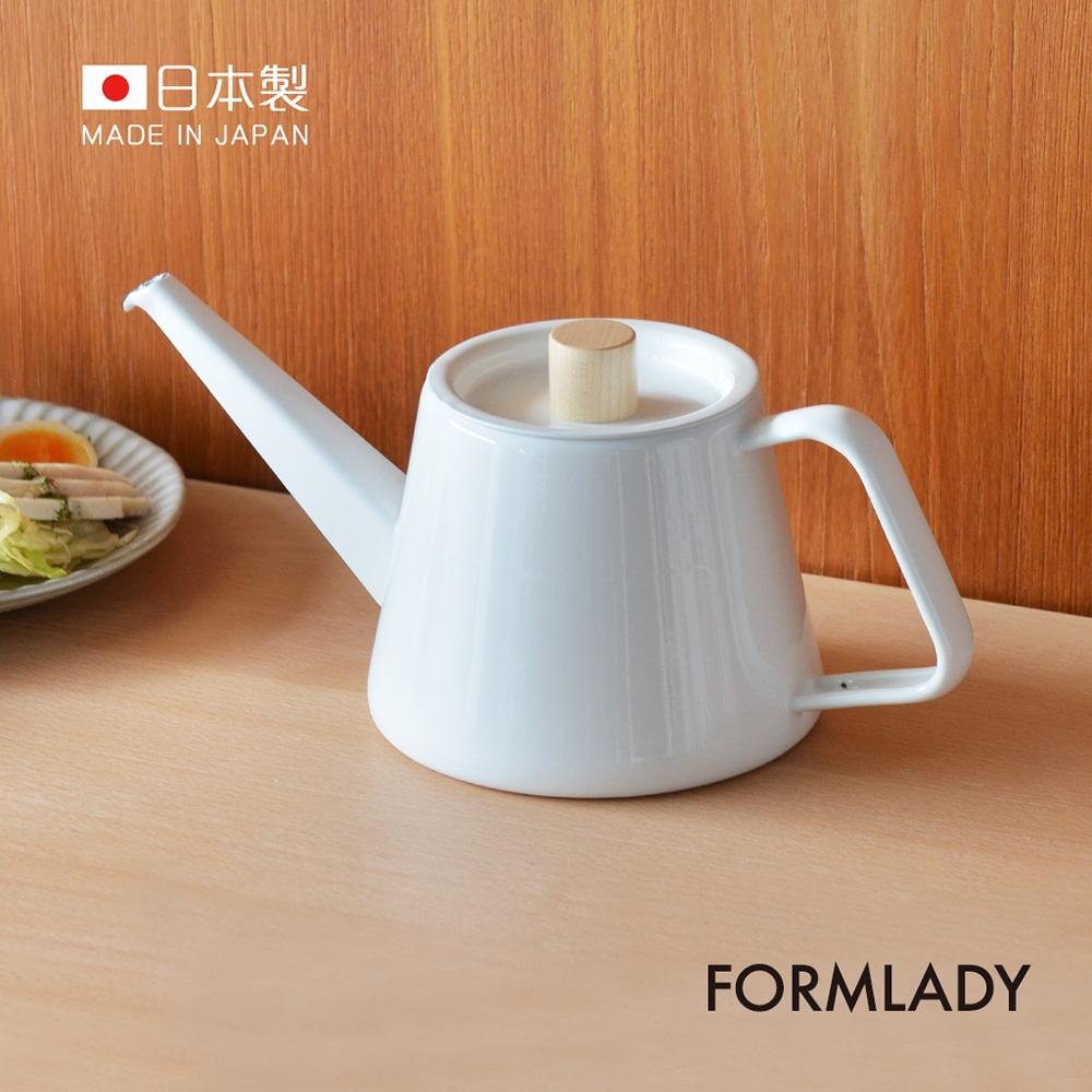 日本FORMLADY 小泉誠 kaico日製琺瑯細口手沖壺-950ml (IH爐可使用 )