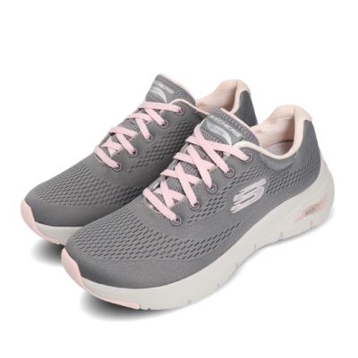Skechers 慢跑鞋 Arch Fit 運動休閒 女鞋 足科醫生推薦鞋墊 回彈 避震 透氣 灰 粉 149057GYPK