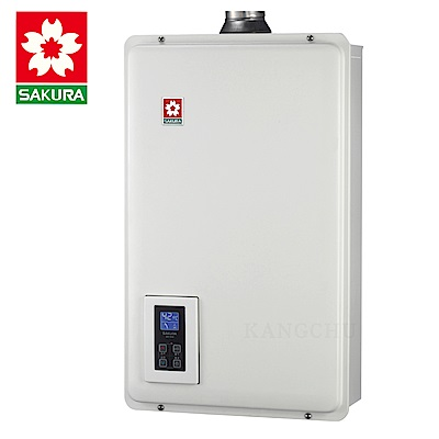 (下單登記送1500)櫻花牌 SH1670F 智慧水量恆溫16L強制排氣熱水器(天然)