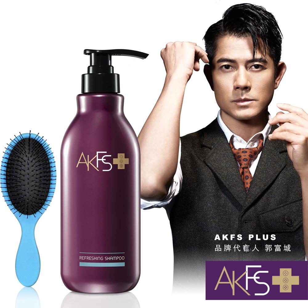 AKFS郭富城代言洗髮露400ml送羅崴詩神奇順髮魔麗梳