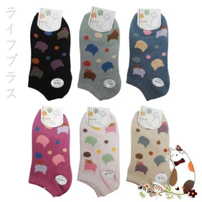 貓咪織花船型襪-LM954/LM955/LM956-12雙入