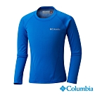 Columbia 哥倫比亞 童款- Omni-HEAT 鋁點保暖快排內著上衣-藍色