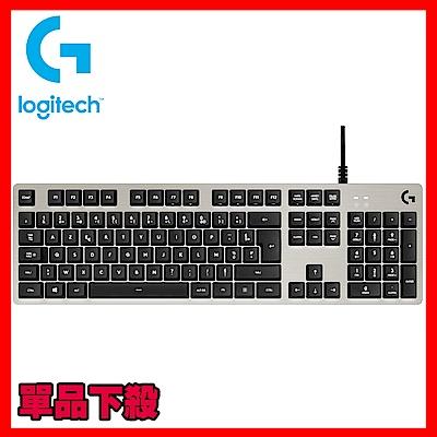 羅技 G413 機械式背光遊戲鍵盤-銀白