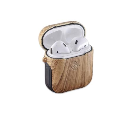 卡思特 木紋系列 AirPods 附皮革扣環 耳機保護殼