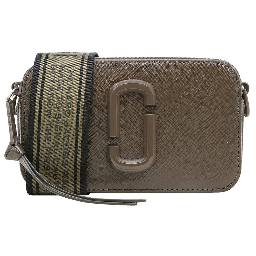 MARC JACOBS Snapshot防刮牛皮相機包/斜背包-墨褐色