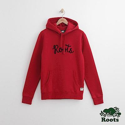 Roots 男裝- 刺繡連帽上衣-紅