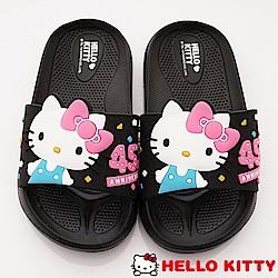 HelloKitty童鞋 45週年限定拖鞋款 EI19265黑(中小童段)