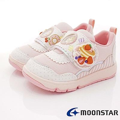 日本Carrot機能童鞋 甜點小熊2E支撐款 TW2141白粉(中小童段)
